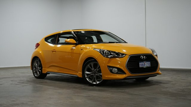 Used Hyundai Veloster FS5 Series II SR Coupe Turbo Welshpool, 2017 Hyundai Veloster FS5 Series II SR Coupe Turbo Yellow 6 Speed Manual Hatchback