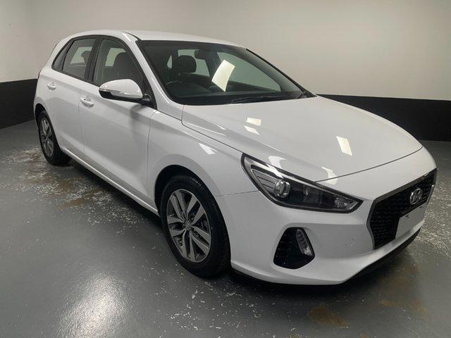 Used Hyundai i30 PD MY18 Active Raymond Terrace, 2018 Hyundai i30 PD MY18 Active White 6 Speed Manual Hatchback