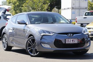 2016 Hyundai Veloster FS4 Series II Coupe D-CT Silver 6 Speed Sports Automatic Dual Clutch Hatchback.