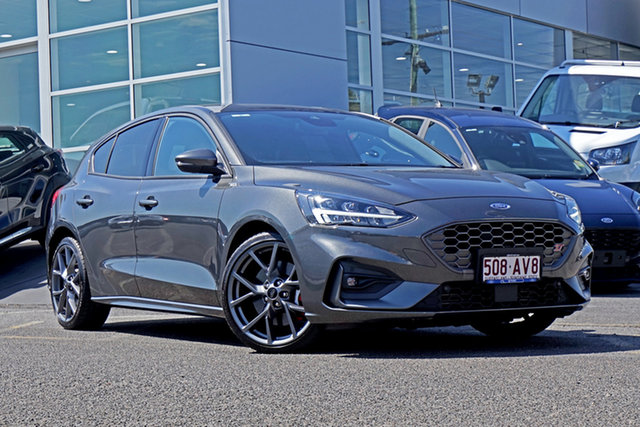 Used Ford Focus SA 2020.25MY ST Springwood, 2020 Ford Focus SA 2020.25MY ST Grey 7 Speed Automatic Hatchback