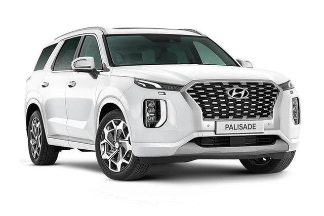 New Hyundai Palisade Highlander Rutherford, 2021 Hyundai Palisade LX2.V2 Highlander White Cream 8 Speed Automatic