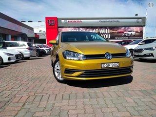 2018 Volkswagen Golf 7.5 MY18 110TSI DSG Trendline Curcuma Yellow 7 Speed.
