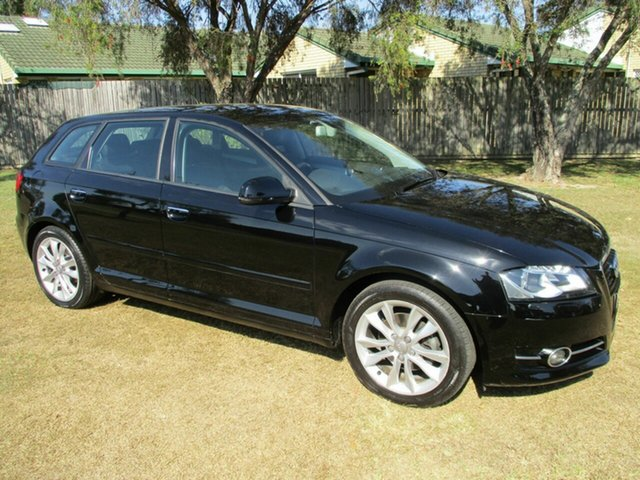 Used Audi A3 8V Ambition Sportback S Tronic Kippa-Ring, 2013 Audi A3 8V Ambition Sportback S Tronic Black 7 Speed Sports Automatic Dual Clutch Hatchback