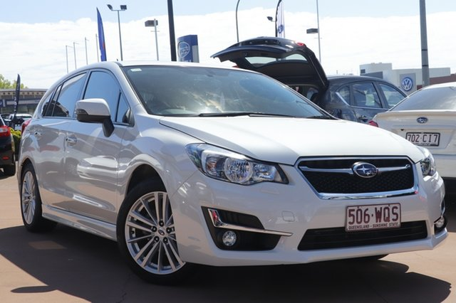 Used Subaru Impreza G4 MY16 2.0i-S Lineartronic AWD Toowoomba, 2016 Subaru Impreza G4 MY16 2.0i-S Lineartronic AWD White 6 Speed Constant Variable Hatchback