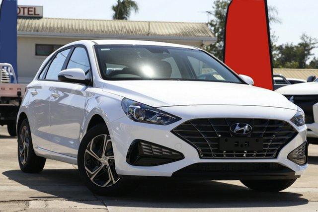 New Hyundai i30 PD.V4 MY22 Beaudesert, 2021 Hyundai i30 PD.V4 MY22 Polar White 6 Speed Sports Automatic Hatchback