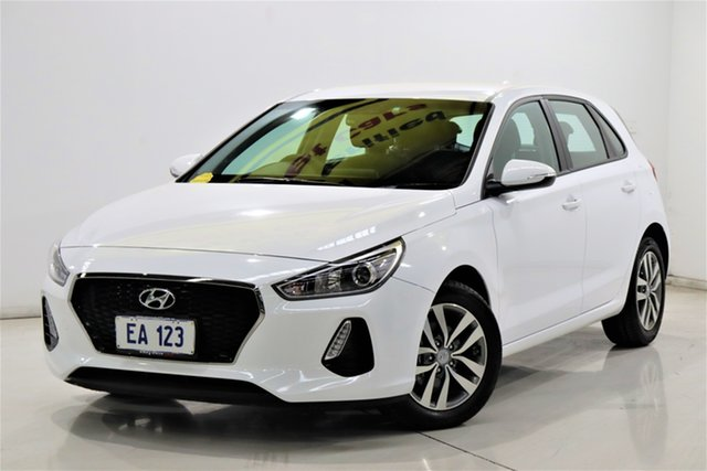 Used Hyundai i30 PD Active Brooklyn, 2018 Hyundai i30 PD Active White 6 Speed Auto Sequential Hatchback