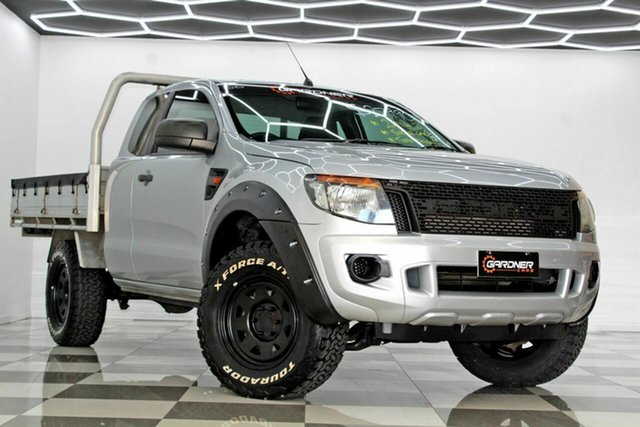 Used Ford Ranger PX XL 2.2 Hi-Rider (4x2) Burleigh Heads, 2014 Ford Ranger PX XL 2.2 Hi-Rider (4x2) Silver 6 Speed Automatic Super Cab Chassis