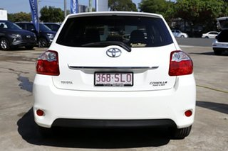2012 Toyota Corolla ZRE152R MY11 Ascent White 6 Speed Manual Hatchback