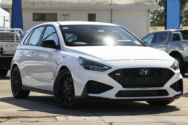 New Hyundai i30 Pde.v4 MY22 N D-CT Beaudesert, 2021 Hyundai i30 Pde.v4 MY22 N D-CT Polar White 8 Speed Sports Automatic Dual Clutch Hatchback