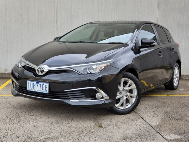 Used Toyota Corolla ZRE182R Ascent Sport S-CVT Oakleigh, 2016 Toyota Corolla ZRE182R Ascent Sport S-CVT Black 7 Speed Constant Variable Hatchback