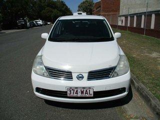 2008 Nissan Tiida C11 MY07 ST-L White 6 Speed Manual Sedan.