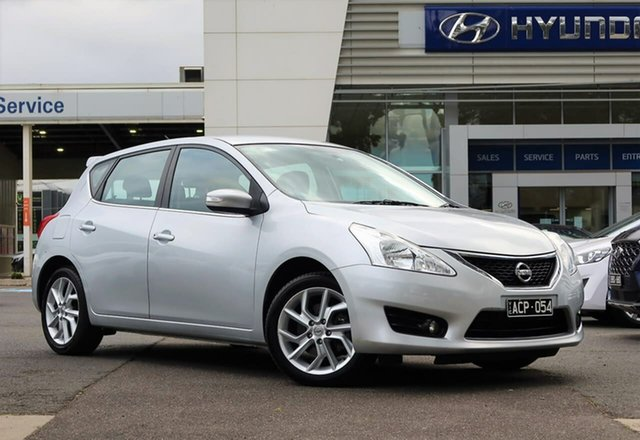 Used Nissan Pulsar C12 ST-S South Melbourne, 2014 Nissan Pulsar C12 ST-S Silver 1 Speed Constant Variable Hatchback