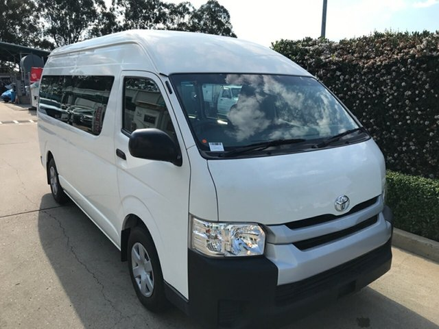 Used Toyota HiAce KDH223R Commuter High Roof Super LWB Acacia Ridge, 2015 Toyota HiAce KDH223R Commuter High Roof Super LWB White 4 speed Automatic Bus