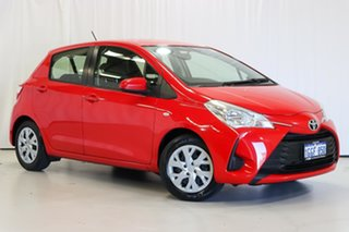 2017 Toyota Yaris NCP130R Ascent Red 5 Speed Manual Hatchback.