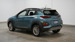 2018 Hyundai Kona OS MY18 Elite D-CT AWD Blue 7 Speed Sports Automatic Dual Clutch Wagon.