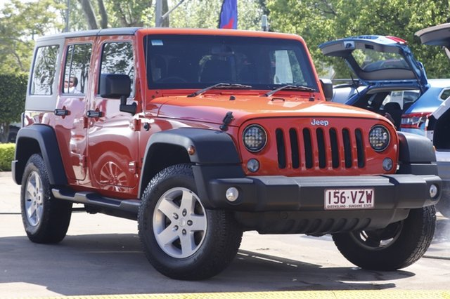 Used Jeep Wrangler JK MY2015 Sport Toowoomba, 2015 Jeep Wrangler JK MY2015 Sport Orange 6 Speed Manual Softtop