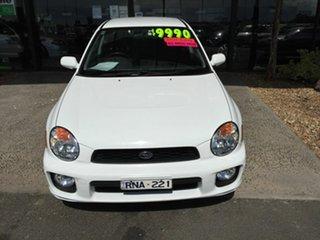 2002 Subaru Impreza MY02 GX (AWD) White 4 Speed Automatic Sedan.