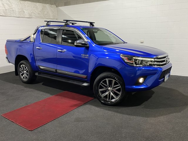 Used Toyota Hilux GUN126R SR5 Double Cab Glenorchy, 2017 Toyota Hilux GUN126R SR5 Double Cab Blue 6 Speed Sports Automatic Utility