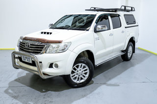 2013 Toyota Hilux KUN26R MY12 SR5 Double Cab White 5 Speed Manual Utility.