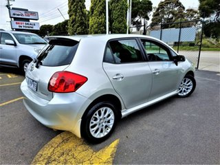2009 Toyota Corolla ZRE152R Edge Silver 4 Speed Automatic Hatchback.
