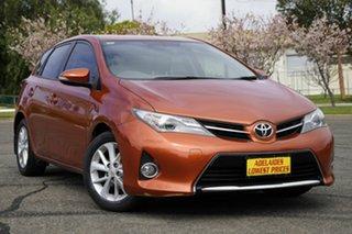 2013 Toyota Corolla ZRE182R Ascent Sport S-CVT Orange 7 Speed Constant Variable Hatchback.
