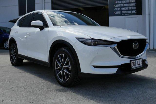 Used Mazda CX-5 KF4WLA Akera SKYACTIV-Drive i-ACTIV AWD Capalaba, 2017 Mazda CX-5 KF4WLA Akera SKYACTIV-Drive i-ACTIV AWD White 6 Speed Sports Automatic Wagon