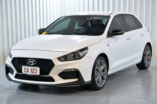 Used Hyundai i30 PD.3 MY19 N Line Hendra, 2018 Hyundai i30 PD.3 MY19 N Line White 6 Speed Manual Hatchback