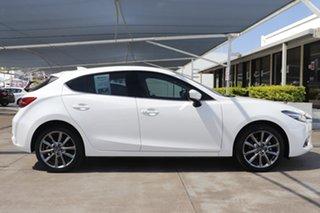 2017 Mazda 3 BN5438 SP25 SKYACTIV-Drive Astina Snowflake White 6 Speed Sports Automatic Hatchback.