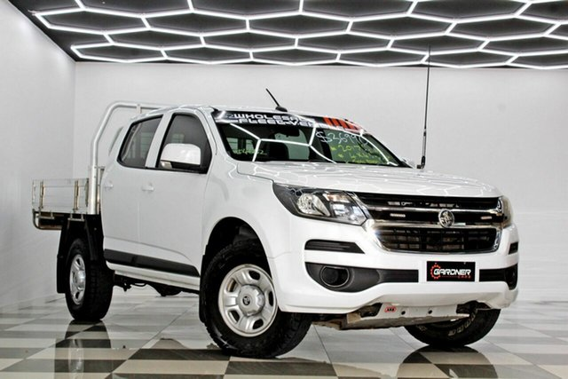 Used Holden Colorado RG MY18 LS (4x4) Burleigh Heads, 2017 Holden Colorado RG MY18 LS (4x4) White 6 Speed Automatic Crew Cab Chassis