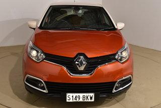 2014 Renault Captur J87 Dynamique EDC Orange Body White Ro 6 Speed Sports Automatic Dual Clutch.