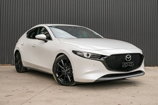 2021 Mazda 3 BP2HLA G25 SKYACTIV-Drive Astina Snowflake White Pearl 6 Speed Sports Automatic.