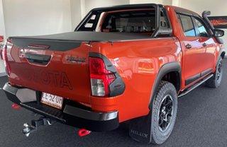 2018 Toyota Hilux GUN126R Rugged X Double Cab Orange 6 Speed Sports Automatic Utility.