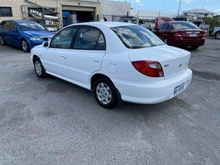 2001 Kia Rio White 4 Speed Automatic Sedan