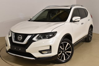 2018 Nissan X-Trail T32 Series II Ti X-tronic 4WD White 7 Speed Constant Variable Wagon.