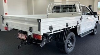2018 Toyota Hilux GUN126R SR Extra Cab White 6 Speed Manual Cab Chassis.