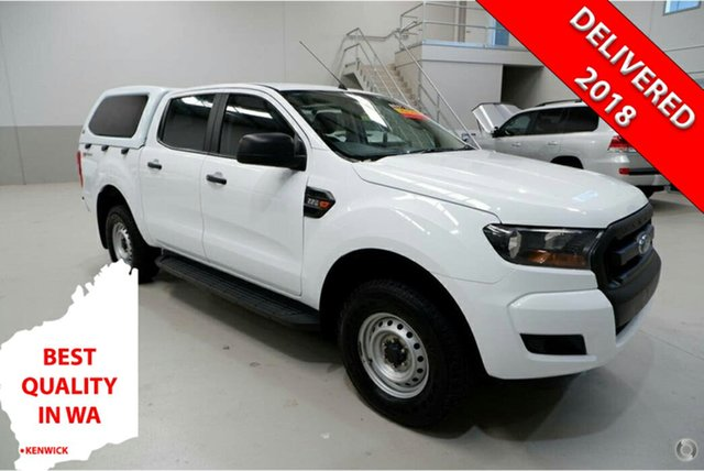 Used Ford Ranger PX MkII 2018.00MY XL Hi-Rider Kenwick, 2017 Ford Ranger PX MkII 2018.00MY XL Hi-Rider White 6 Speed Sports Automatic Utility