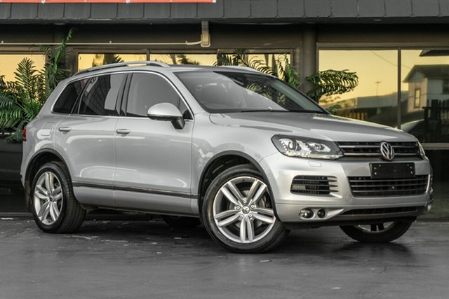 Used Volkswagen Touareg 7P MY13 V6 TDI Tiptronic 4MOTION Bowen Hills, 2013 Volkswagen Touareg 7P MY13 V6 TDI Tiptronic 4MOTION Silver 8 Speed Sports Automatic Wagon