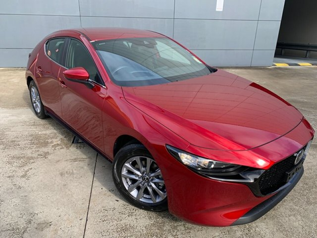 New Mazda 3 BP2H7A G20 SKYACTIV-Drive Pure Alexandria, 2021 Mazda 3 BP2H7A G20 SKYACTIV-Drive Pure Soul Red Crystal 6 Speed Sports Automatic Hatchback