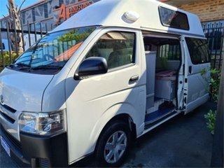 2016 Toyota HiAce White Campervan.