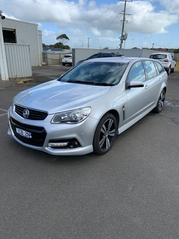 Used Holden Commodore VF MY15 SV6 Sportwagon Storm Warrnambool East, 2015 Holden Commodore VF MY15 SV6 Sportwagon Storm Silver 6 Speed Sports Automatic Wagon