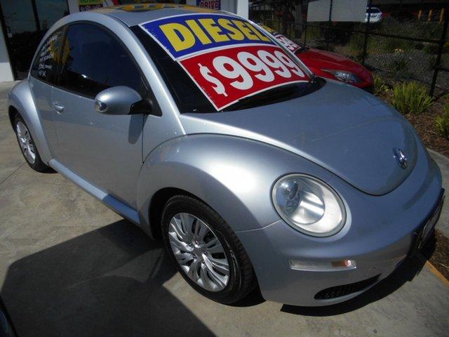 Used Volkswagen Beetle 9C MY2008 TDI Coupe Springwood, 2008 Volkswagen Beetle 9C MY2008 TDI Coupe Silver 5 Speed Manual Liftback
