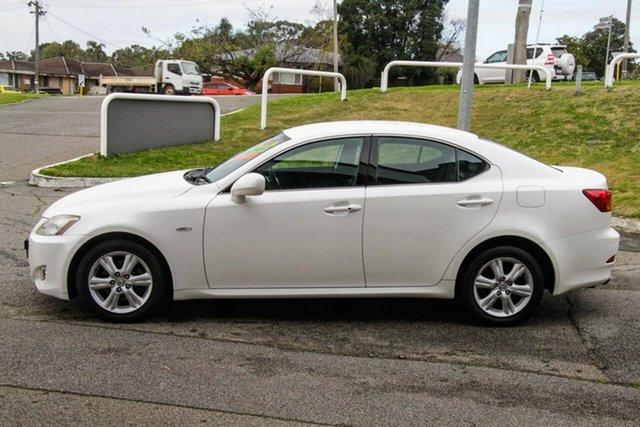 Used Lexus IS GSE20R IS250 Prestige Melville, 2006 Lexus IS GSE20R IS250 Prestige White 6 Speed Sports Automatic Sedan