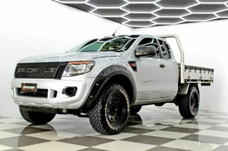 2014 Ford Ranger PX XL 2.2 Hi-Rider (4x2) Silver 6 Speed Automatic Super Cab Chassis