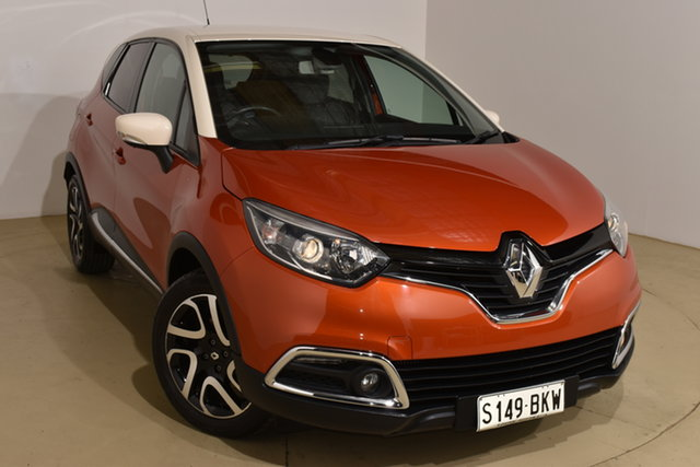 Used Renault Captur J87 Dynamique EDC Nailsworth, 2014 Renault Captur J87 Dynamique EDC Orange Body White Ro 6 Speed Sports Automatic Dual Clutch