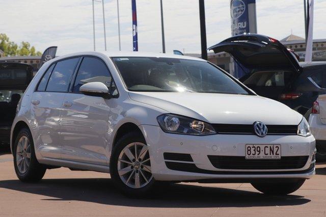 Used Volkswagen Golf VII MY16 92TSI Toowoomba, 2015 Volkswagen Golf VII MY16 92TSI White 6 Speed Manual Hatchback