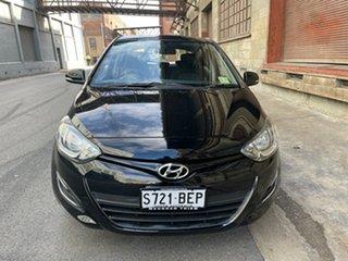 2014 Hyundai i20 PB MY14 Active Phantom Black 4 Speed Automatic Hatchback.