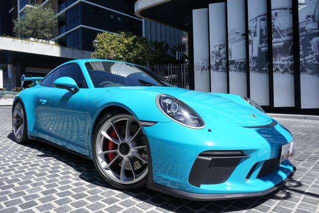 Used Porsche 911 991 East Brisbane, 2018 Porsche 911 991 GT 3 Miami Blue 6 Speed Manual Coupe