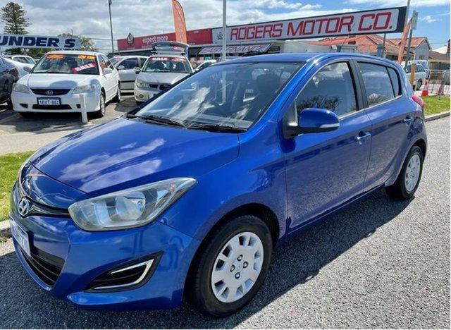 Used Hyundai i20 PB MY12 Active Victoria Park, 2012 Hyundai i20 PB MY12 Active Blue 4 Speed Automatic Hatchback