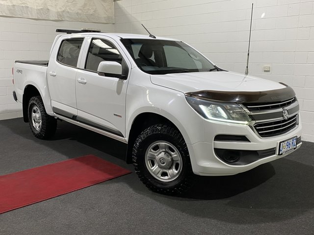 Used Holden Colorado RG MY17 LS Pickup Crew Cab Glenorchy, 2017 Holden Colorado RG MY17 LS Pickup Crew Cab Olympic White 6 Speed Sports Automatic Utility
