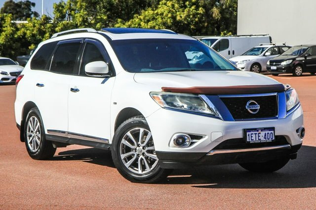 Used Nissan Pathfinder R52 MY15 ST-L X-tronic 2WD Cannington, 2015 Nissan Pathfinder R52 MY15 ST-L X-tronic 2WD White 1 Speed Constant Variable Wagon